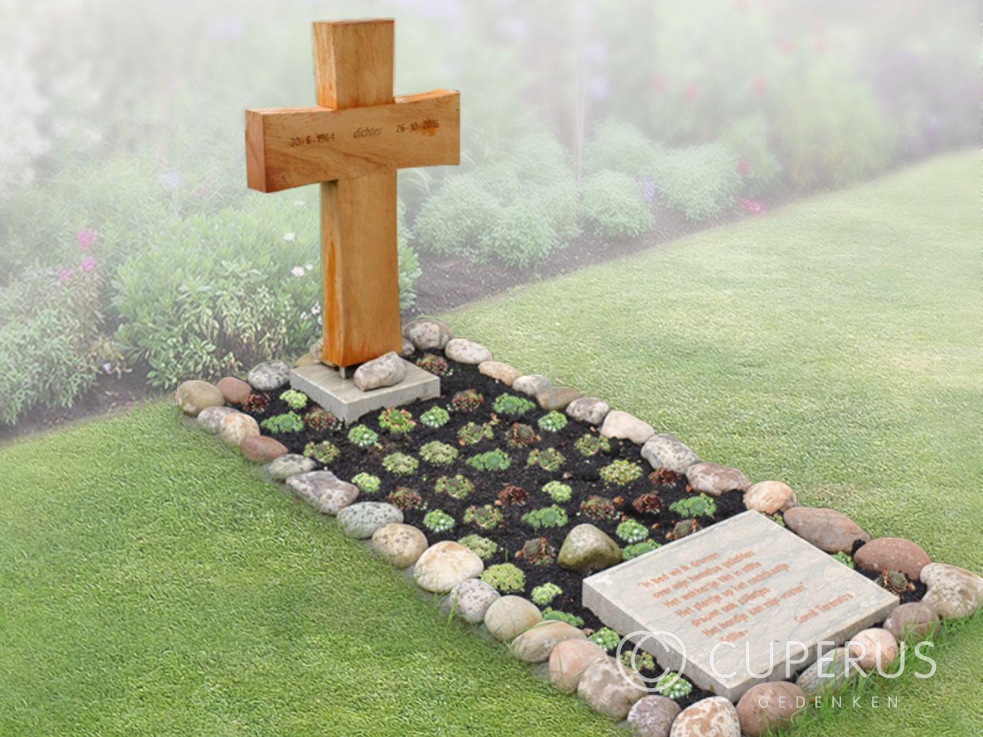 Wonderlijk Grafmonument houten kruis en keitjes | Cuperus gedenken | 41980 PW-66